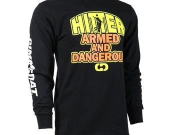 Hitter: Armed and Dangerous Long Sleeve Volleyball T-Shirt, Volleyball Shirts, Volleyball Gifts - Free Shipping!