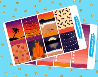 Summer Nights Vertical Planner Sticker Kit