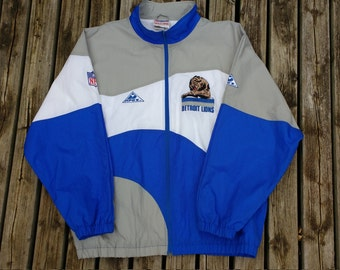 Vintage 90's Detroit Lions Authentic Pro Line by Apex One XXL heavy windbreaker type jacket