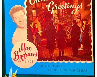 """Max Bygraves Christmas Greetings. Silent Night 45rpm 7"""" Vinyl Record. 1965. Very Good Condition. Vintage Collectible."""