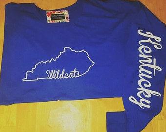 Kentucky Wildcats Shirt, Long Sleeve