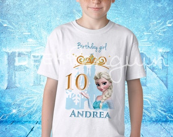 Elsa Birthday shirt, Frozen birthday shirt, Frozen Elsa, Frozen Anna,  Birthday Shirt Custom personalized, Princess Elsa Birthday T shirt,