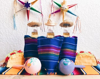 Beer serape, Fiesta decorations, Mexican fiesta, Mexican party, Mexican party decorations, Mexican fiesta decorations, SET OF 3