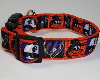 Baltimore Dog Collar - Natty Boh Collar Leash  FREE Shipping