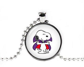 Halloween Snoopy Necklace with Pendant Snoopy Jewelry Snoopy Necklace
