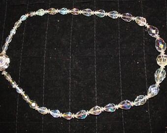 Vintage crystal bead neclace