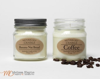 Natural Soy Candles, Pick Two