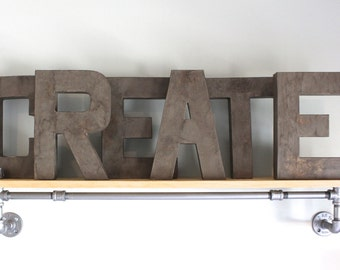 Inspirational Wood Signs - Play Room Decor - Playroom Wall Art - Distressed Letters - Kids Playroom Decor -  Kids Gift - Kids Room Sign