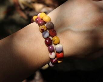 FREE SHIPPING Mookaite jasper bracelet