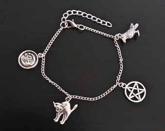"Bracelet ""Witch"". Witch-charms bracelet 