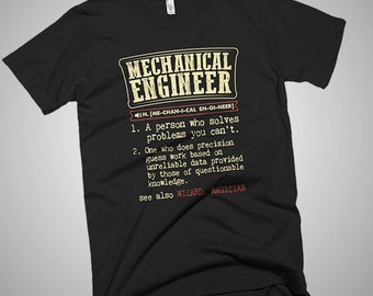 Mechanical Engineer Funny Dictionary Definition T-Shirt