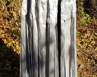 READY TO SHIP Silver Ribbon Cape - Medieval Renaissance Costume Cloak
