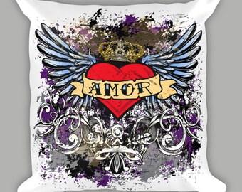 Amor Throw Pillow, Amor Pillow, Home Decor