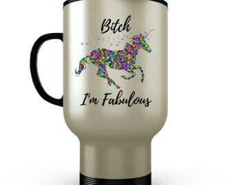 Funny Travel Mug - Unicorn Mug - Stainless Steel Travel Mug - Gifts For Coffee Lovers - Travel Coffee Mug - Travel Accessories For Women