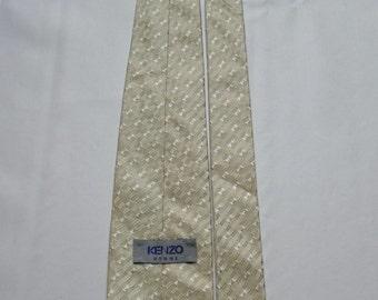 KENZO men Golden beige 100% silk tie