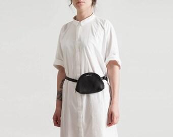 MINI-fashion genuine leather waist bag