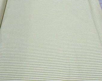 Green Striped Cotton Fabric from Penny Rose