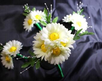 Booby Bouquet™ Gerbera Daisy Wedding Bridal Bouquet Set Bachelorette Party Adult Novelty Gift Silk Flower Arrangement