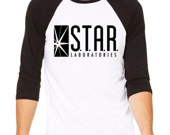 Star Labs Baseball Tee Shirt - STAR Laboratories, The Flash TV, Star Labs Shirt, Star Labs Sweater, Flash Shirt, Star Labs T-shirt