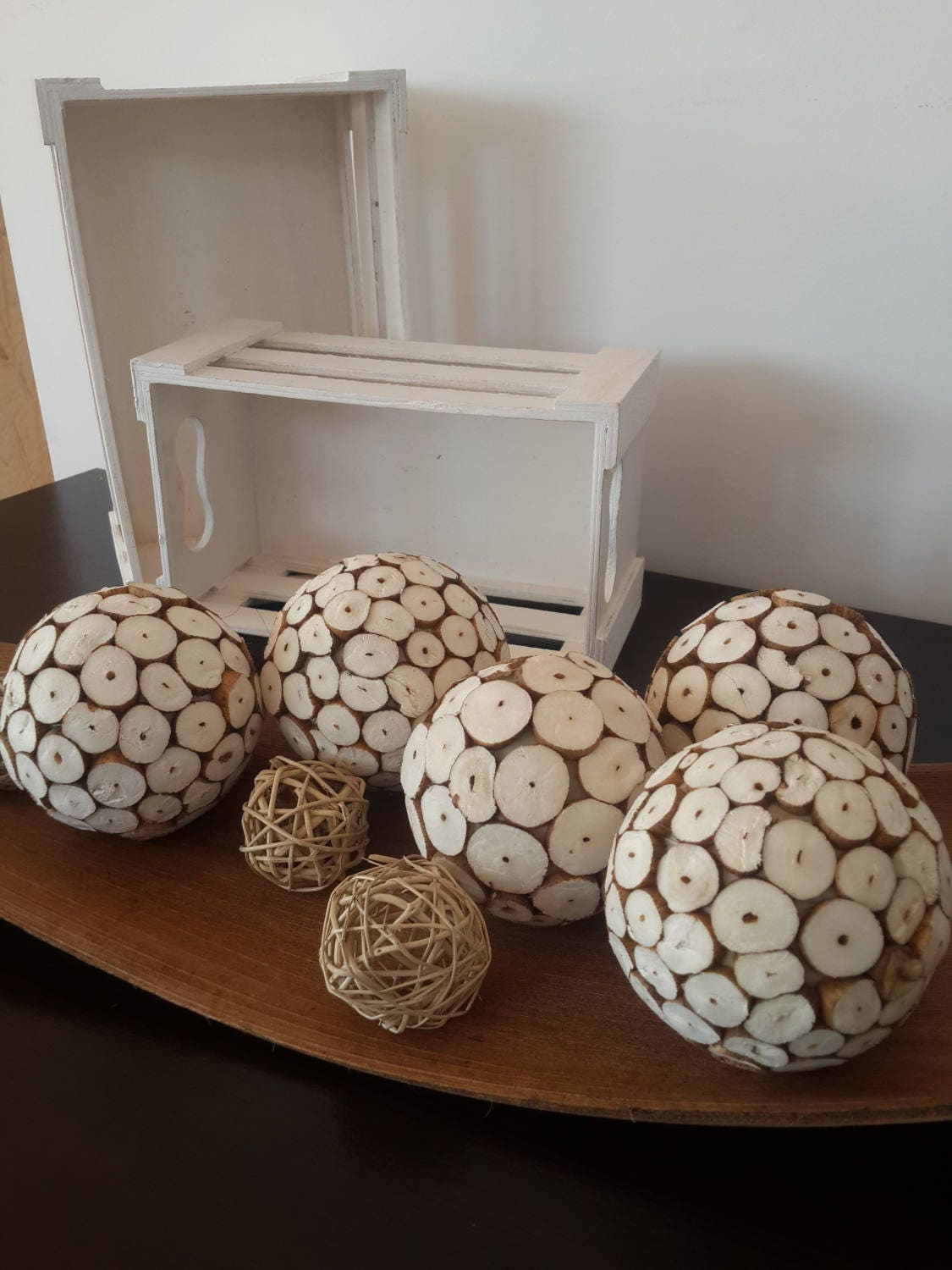 Set of 5 sola balls wedding supplies eco flowers for Rustic home decor suppliers