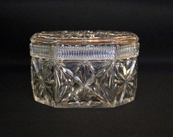 On Hold-big star cut Crystal covered box