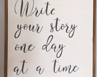Write Your Story wood board wall hanging