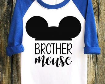 Brother Mouse | Disney Shirts | Disney Family Shirts | Mickey Mouse Shirt | MickeyMouse | Disney Clothing | Brother Shirt | Mini Mouse Shirt