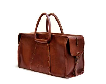 Leather Weekend Bag | Leather Travel Bag | Cabin Travel Bag | Weekender Bag | Duffel Bag | Travel bag leather