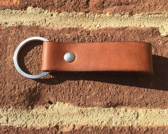 Leather Key Fob, Leather Keychain, Leather Key Holder, Leather Key Ring, Leather Key Lanyard, Leather Key Chain, Gifts Under 10, Key Chain