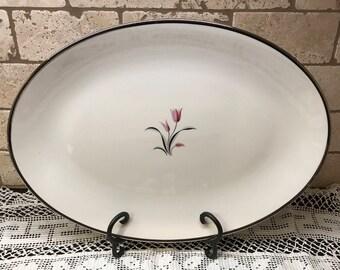 Vintage Franciscan Fine China Carmel Pattern Large Oval Serving Platter