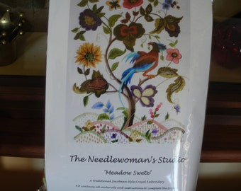 Meadow Swete - Crewel Embroidery Firescreen kit from The Needlewoman's Studio