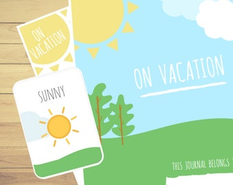 My Travel Journal⎜On vacation⎜Kids Travel Journal⎜Printable Travel Planner⎜Learn English