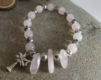 Bracelet with stone of Quartz rose