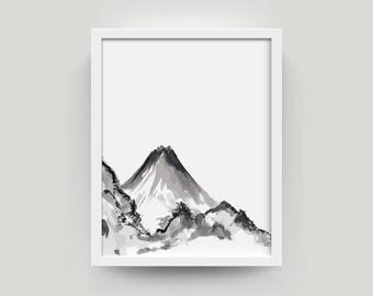 Art Mountain Modern Art Mountain | Mountain Art Modern Mountain Art | Wall Art Mountain Modern Wall Art | Print Modern Mountain Print