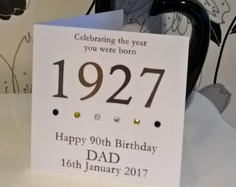 Male Year You Were Born Personalised Birthday Card 100th 95th 90th 85th 80th 75th 70th 65th 60th 50th 40th 30th 21st 18th 16th 13th