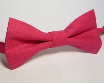 Raspberry bow tie, Men Red Bow Tie, Bow Tie For Groomsmen, boys bow tie, baby bow tie bow tie, toddler bow tie, Red bow tie