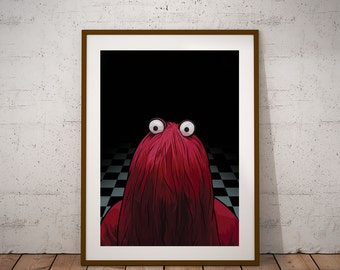 Don't Hug Me I'm Scared - 'Red Guy' illustration Poster