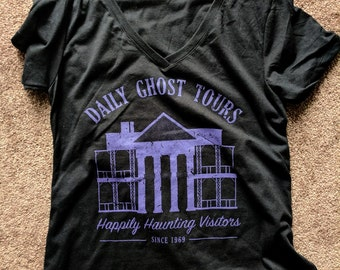Haunted Mansion Fandom Tee - XS-XL / Womens Black V-Neck T-Shirt