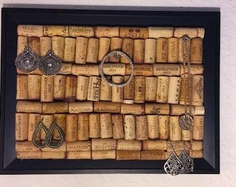 Wine Cork Jewelry Holder