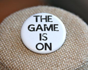 Sherlock The Game is On Button, Sherlock The Game is On Pin