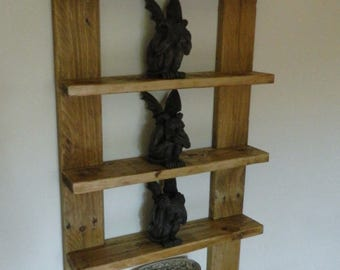 Handmade Rustic 5 tier Industrial Shelf Unit made from Recycled Pallet Wood