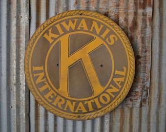 "Vintage Kiwanis International One-Sided Sign - 30"""