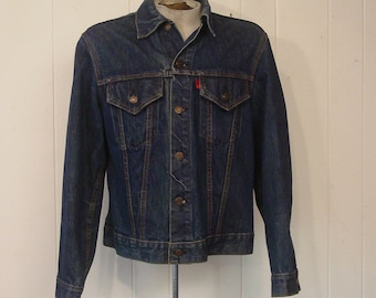 Vintage jacket, denim jacket, 1980s jacket, trucker jacket, vintage clothing, 42