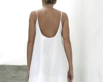 Milano Dress White - 100% Linen