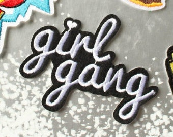 1pc Girl Gang patch Iron on patch Girl Gang Patches sew on patch embroidery  emb roidered patch DIY