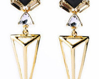 Luxury Gold Geometric Earrings EA6021i