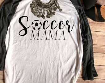 SALE Soccer Mama Baseball Tee, Soccer Mom Shirt, Soccer Mom Shirts, Little League, Soccer Mom Tee, T shirts, Football Mom T-Shirts, Soccer P