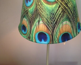 Peacock Lamp Shade Etsy Uk