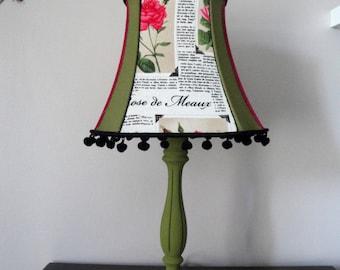 Small handmade newspaper print lampshade