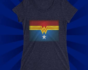 Retro Super Hero shirt, , also available in , plus size shirts